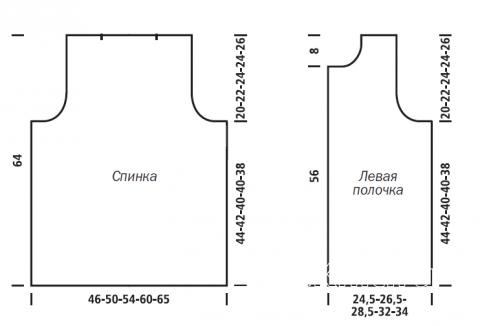Схема вязания удлиненный меховой жилет без застежек раздел вязание спицами для женщин жилеты для женщин