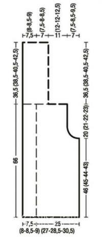 Схема вязания удлиненный жилет с косами раздел вязание спицами для женщин жилеты для женщин