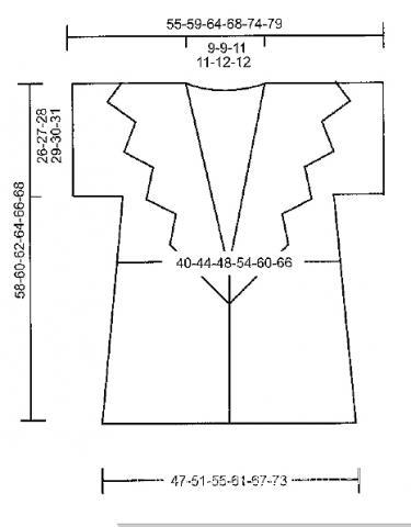 Схема вязания жакет без рукавов с ажурным широким воротником раздел вязание спицами для женщин жилеты для женщин