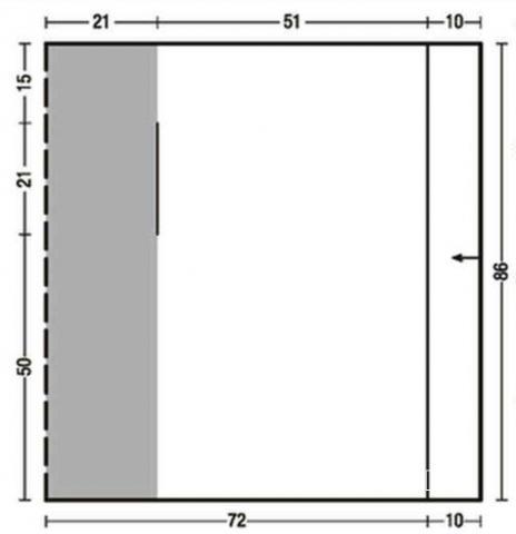 Схема вязания жаккардовый жилет с асимметричной длиной раздел вязание спицами для женщин жилеты для женщин