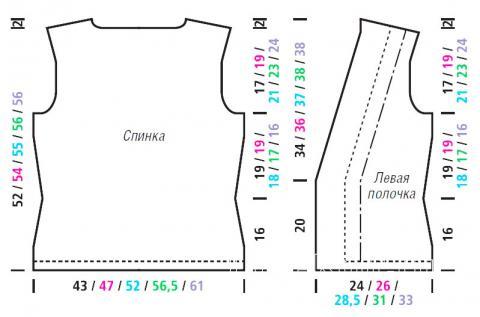 Схема вязания жилет на одной пуговице с ажурным узором раздел вязание спицами для женщин жилеты для женщин