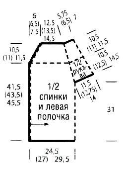 Схема вязания жилет на одной пуговице связанный поперек раздел вязание спицами для женщин жилеты для женщин