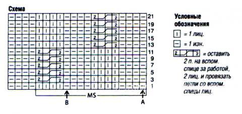 Схема вязания жилет с рельефным узором на пуговицах раздел вязание спицами для женщин жилеты для женщин