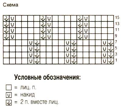Схема вязания жилет с вышивкой и асимметричным вырезом раздел вязание спицами для женщин жилеты для женщин