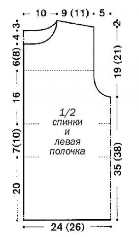 Схема вязания жилет с вышивкой из цветов раздел вязание спицами для женщин жилеты для женщин