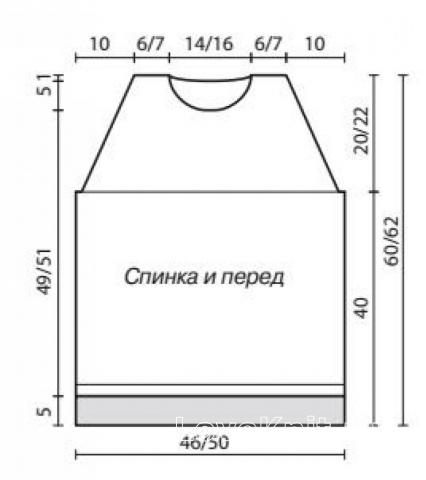Схема вязания жилет с жаккардовым узором раздел вязание спицами для женщин жилеты для женщин