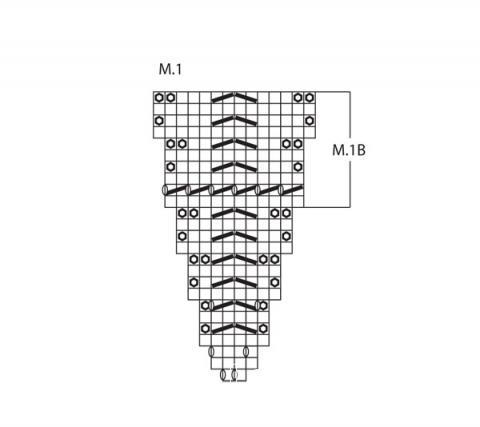 Схема вязания шаль с диагональным узором раздел вязание спицами для женщин вязаные шарфы модные модели
