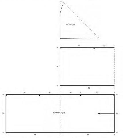 Схема вязания ажурная накидка с узором из зигзагов раздел вязание спицами для женщин накидки и болеро для женщин