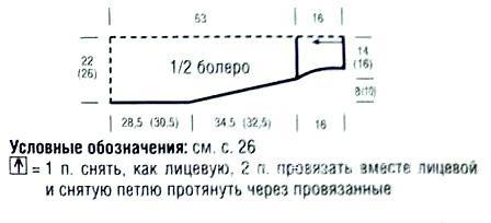 Схема вязания болеро с ажурной каймой раздел вязание спицами для женщин накидки и болеро для женщин