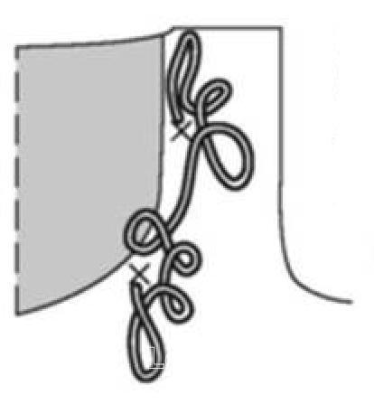 Схема вязания болеро на завязках украшенное розами раздел вязание спицами для женщин накидки и болеро для женщин