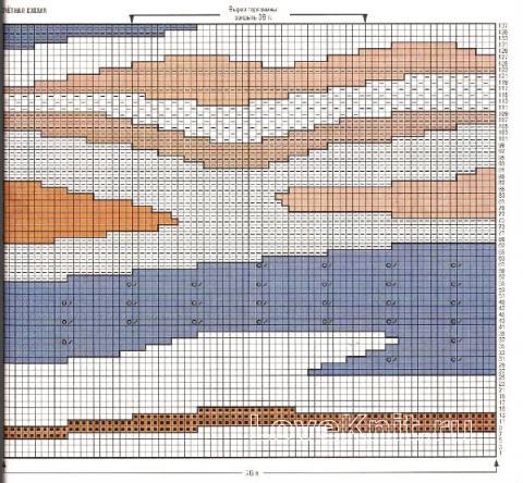 Схема вязания цветная накидка с бахромой раздел вязание спицами для женщин накидки и болеро для женщин