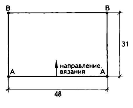 Схема вязания двухцветное болеро без застежек раздел вязание спицами для женщин накидки и болеро для женщин