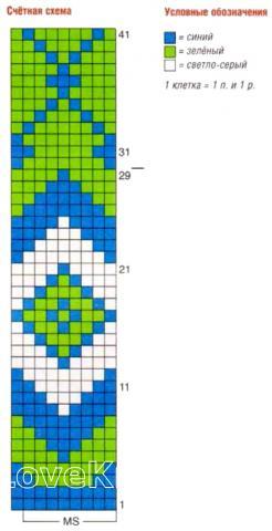 Схема вязания джемпер-пончо с цветным узором раздел вязание спицами для женщин накидки и болеро для женщин