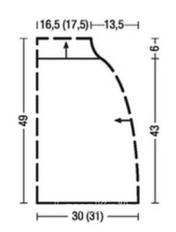 Схема вязания кейп с крупными косами вязаный поперек раздел вязание спицами для женщин накидки и болеро для женщин