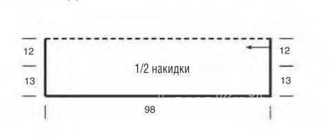 Схема вязания накидка оверсайз с рельефным рисунком раздел вязание спицами для женщин накидки и болеро для женщин
