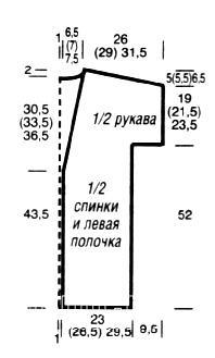 Схема вязания накидка в полоску раздел вязание спицами для женщин накидки и болеро для женщин