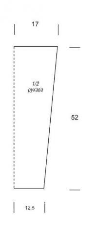 Схема вязания перекрещенная накидка-пуловер  раздел вязание спицами для женщин накидки и болеро для женщин