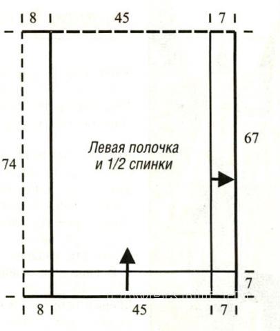 Схема вязания пончо с асимметричными краями раздел вязание спицами для женщин накидки и болеро для женщин