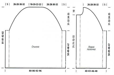 Схема вязания пончо с мохеровым воротником раздел вязание спицами для женщин накидки и болеро для женщин