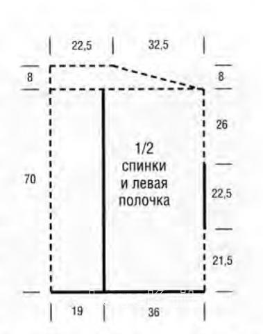 Схема вязания удлиненная накидка с капюшоном раздел вязание спицами для женщин накидки и болеро для женщин