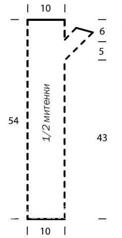 Схема вязания длинные митенки с косым узором раздел вязание спицами для женщин перчатки