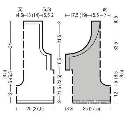 Схема вязания комбинезон на лямках с шортами раздел вязание спицами для женщин брюки, шорты