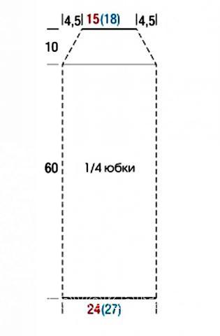 Схема вязания топ и юбка с узором из отдельных кругов раздел вязание спицами для женщин юбки