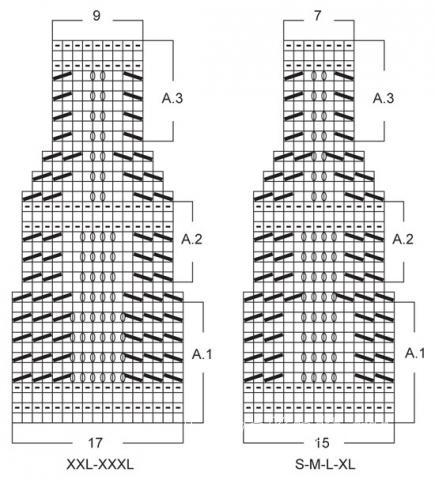 Схема вязания укороченная юбка с цветным узором раздел вязание спицами для женщин юбки