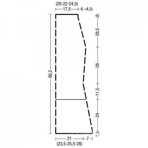 Схема вязания юбка миди с жаккардовым рисунком раздел вязание спицами для женщин юбки