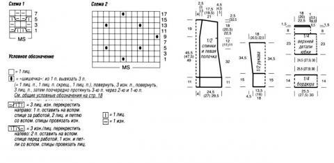 Схема вязания жакет и юбка раздел вязание спицами для женщин юбки