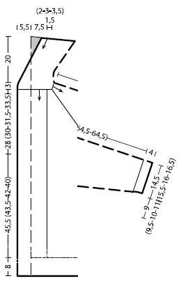 Схема вязания пальто с большим воротником на поясе раздел вязание спицами для женщин пальто