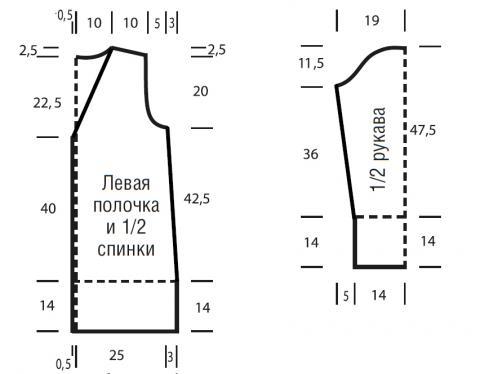 Схема вязания пальто с разноцветными узорами раздел вязание спицами для женщин пальто