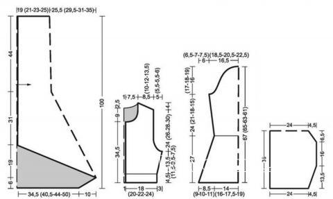 Схема вязания пальто в пол с капюшоном раздел вязание спицами для женщин пальто