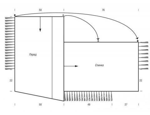 Схема вязания пончо с диагональной косой раздел вязание спицами для женщин пальто