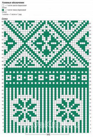 Схема вязания пончо с жаккардовым узором раздел вязание спицами для женщин пальто