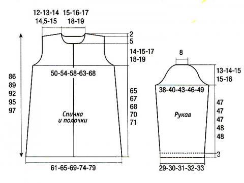 Схема вязания синее пальто раздел вязание спицами для женщин пальто