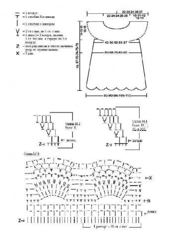Схема вязания ажурная свободная туника раздел вязание крючком для женщин платья, сарафаны для женщин