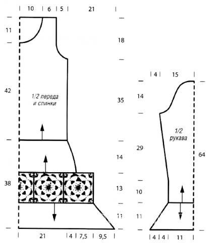 Схема вязания ажурное платье с цветочным узором раздел вязание крючком для женщин платья, сарафаны для женщин