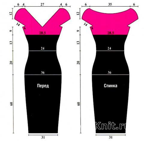 Схема вязания черно - розовое платье раздел вязание крючком для женщин платья, сарафаны для женщин
