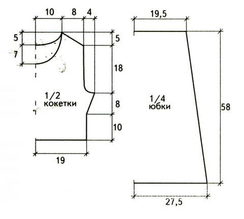 Схема вязания платье до колен с оборками раздел вязание крючком для женщин платья, сарафаны для женщин