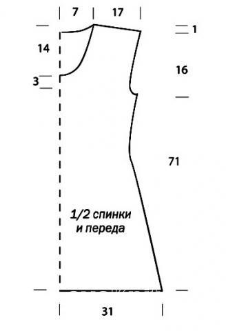 Схема вязания платье до колена с ажурными полосами раздел вязание крючком для женщин платья, сарафаны для женщин