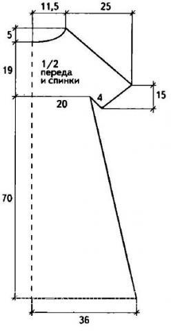 Схема вязания платье до колена с юбкой-колокольчиком раздел вязание крючком для женщин платья, сарафаны для женщин