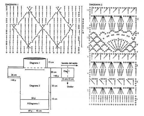 Схема вязания платье сетка с воротником стойка раздел вязание крючком для женщин платья, сарафаны для женщин