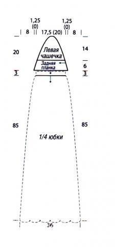 Схема вязания полосатое платье с завязками на шее раздел вязание крючком для женщин платья, сарафаны для женщин