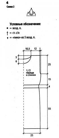 Схема вязания свободное ажурное платье без рукавов раздел вязание крючком для женщин платья, сарафаны для женщин