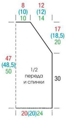Схема вязания ажурный топ с волнистым бордюром раздел вязание крючком для женщин кофты для женщин
