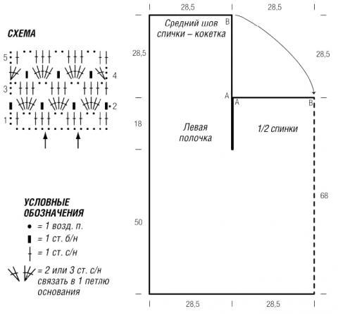 Схема вязания ажурный жакет с арочным узором раздел вязание крючком для женщин кофты для женщин