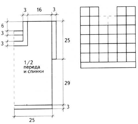 Схема вязания цветной топ из квадратов раздел вязание крючком для женщин кофты для женщин