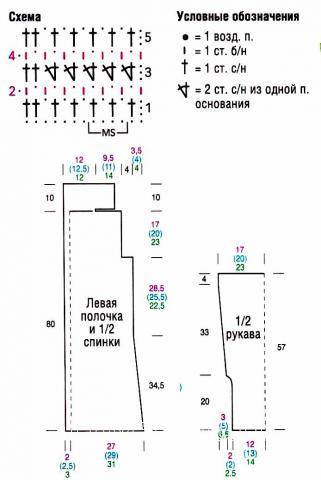 Схема вязания длинный жакет на застежке раздел вязание крючком для женщин кофты для женщин