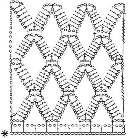Схема вязания джемпер в крупную сеточку с широким воротником раздел вязание крючком для женщин кофты для женщин
